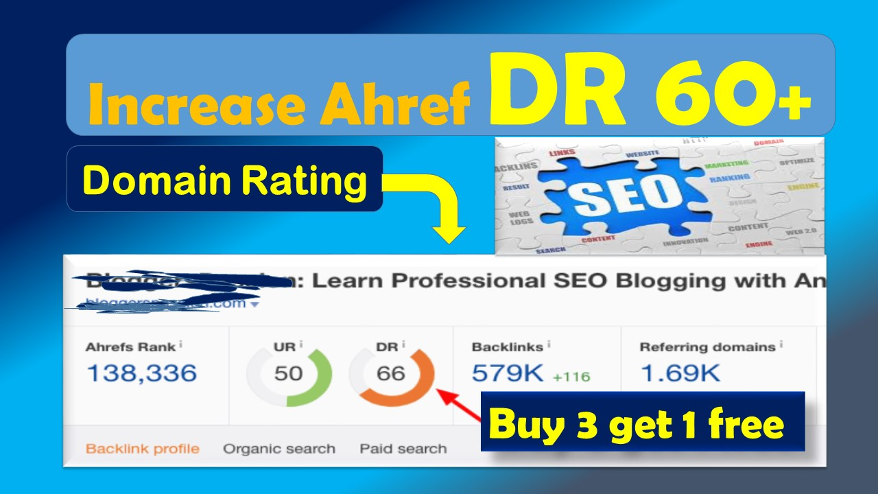 i'll increase Ahref domain rating 50 plus without using redirect backlinks
