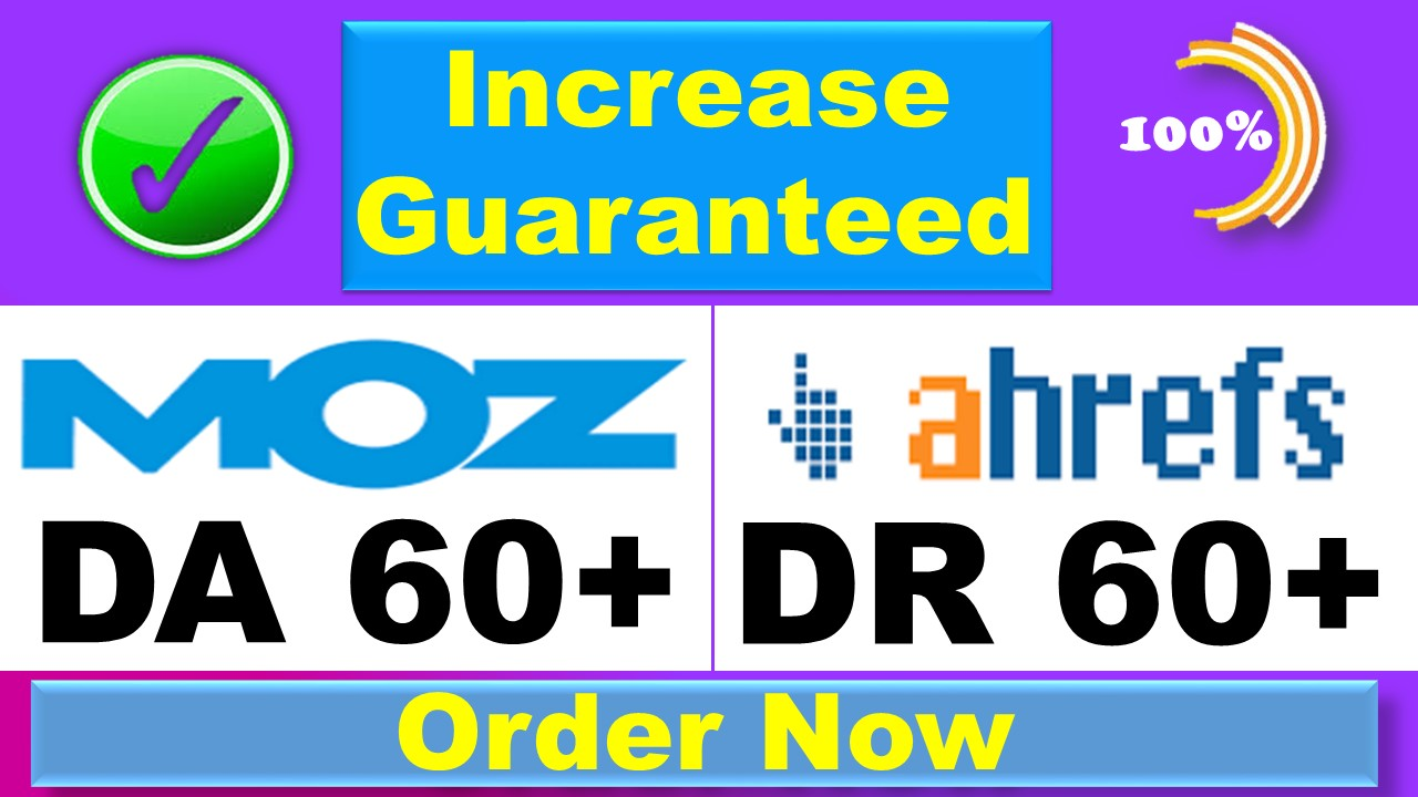 I will increase your domain rating DR ahrefs domain authority da