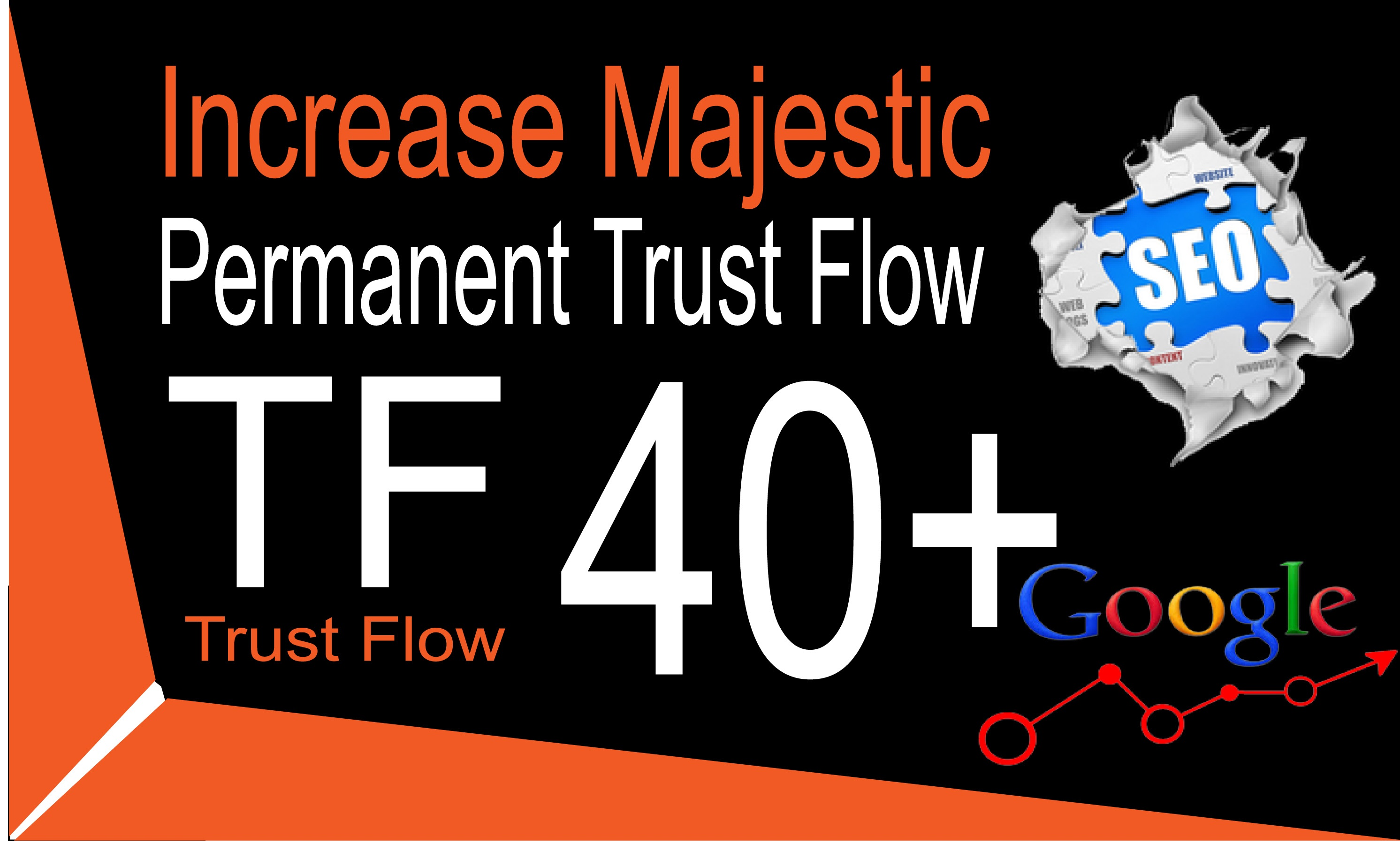 I will increase majestic trust flow rate tf 30plus