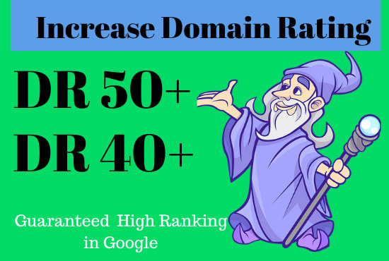 I will increase your website ahrefs domain rating DR 40+ just in 30
