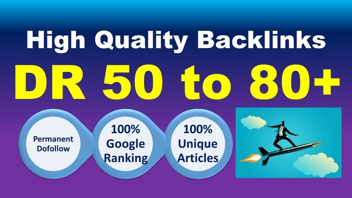 I will make 50 high dr SEO backlinks white hat manual link building service high ranking
