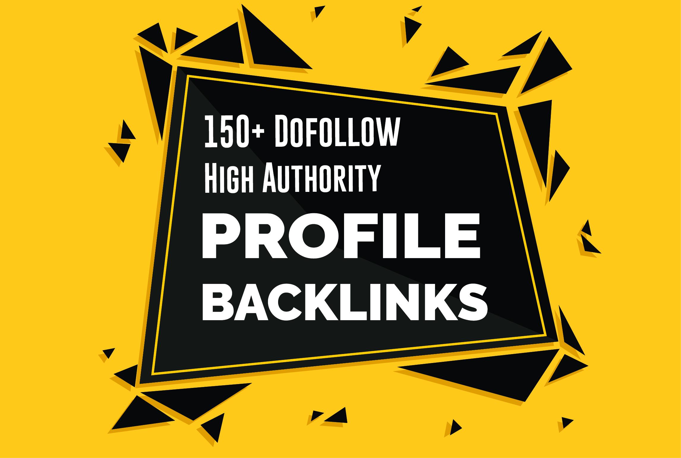I will provide 150 High Quality Do follow Seo Profile Backlinks