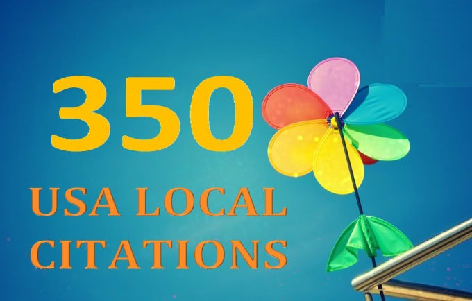 I will 350 USA local citations and business directories