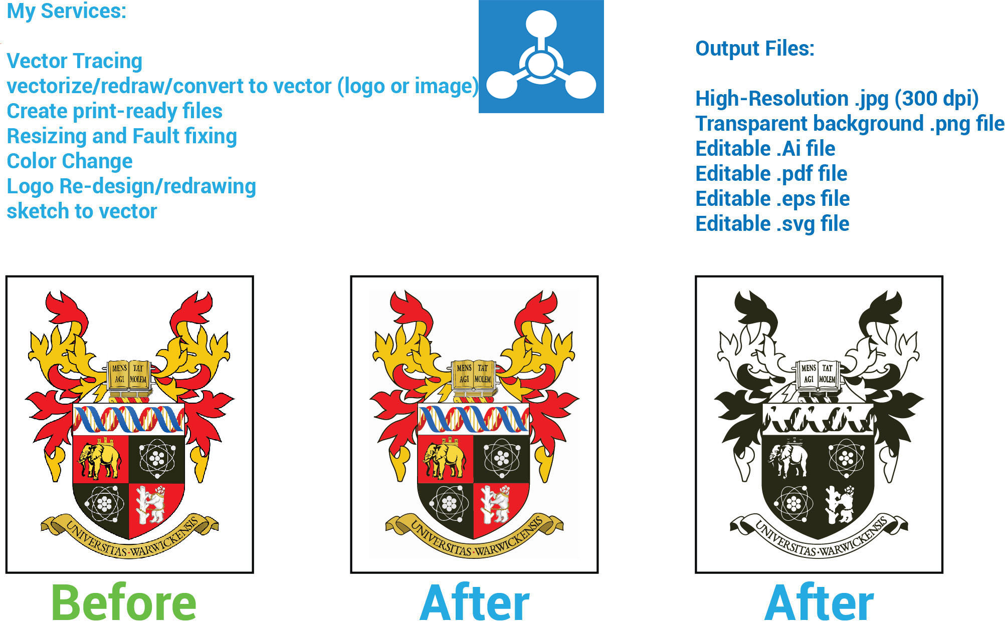 I will do manually vector tracing,  vectorize logo,  image or drawing etc.