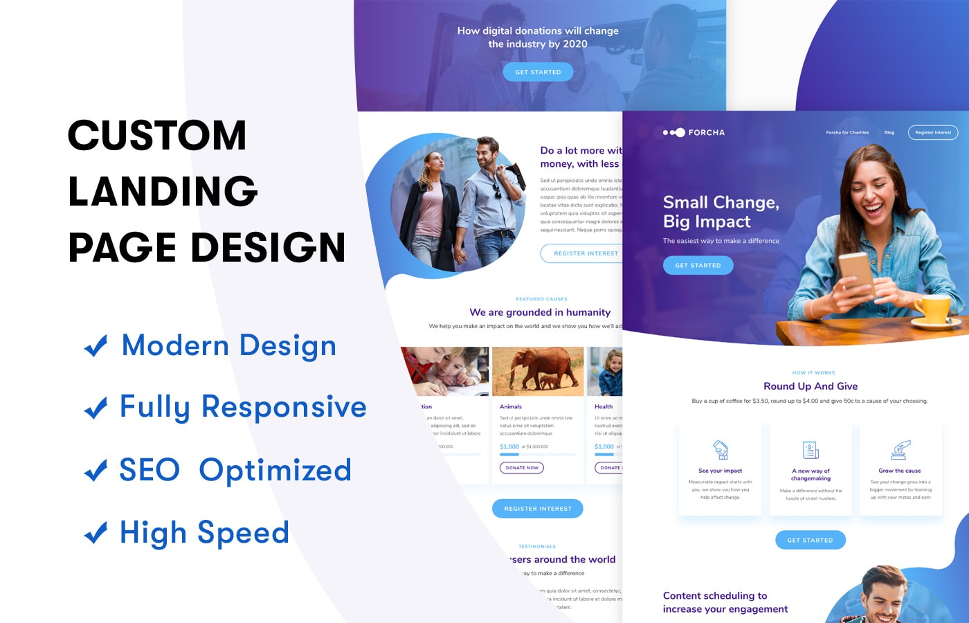 I Will Design Professional Landing page,  Modern landing page,  Business page efficiently