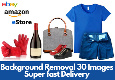 do remove background of amazon, eBay store 30 images in 10 hours