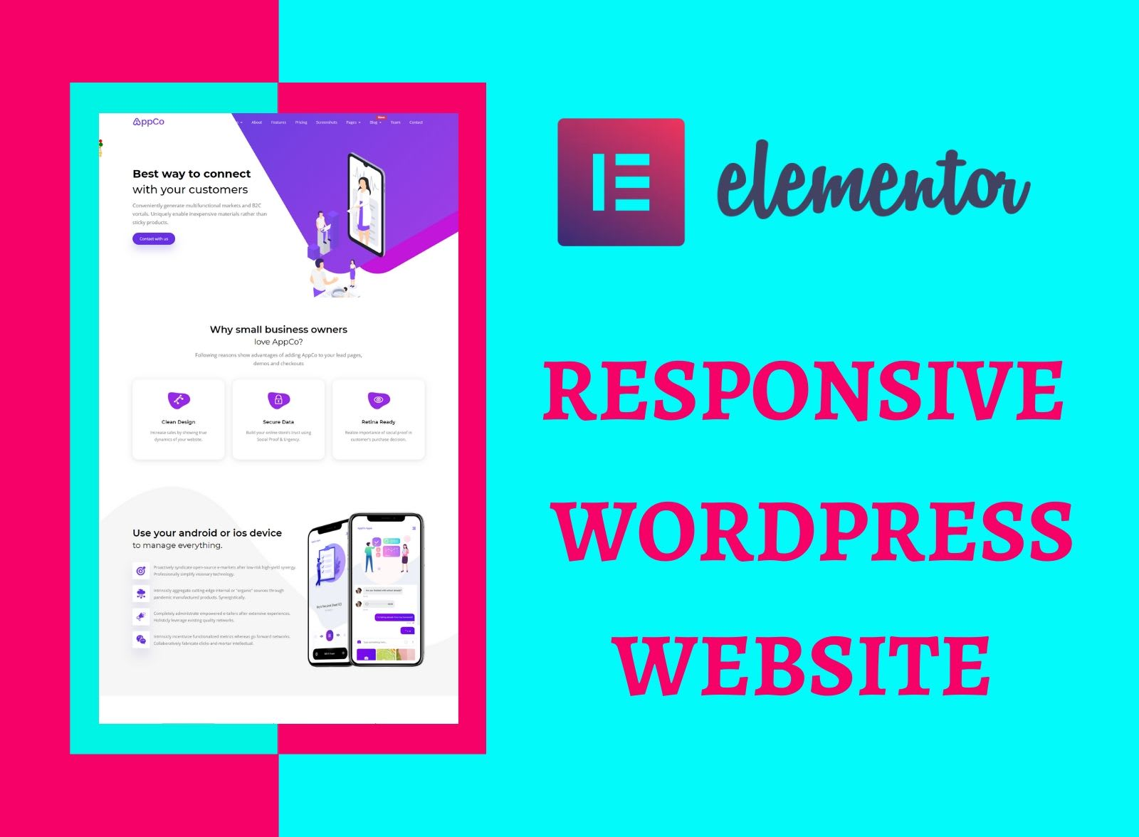 I will do create a responsive WordPress website design