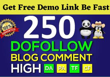 I will Do Manually 250 blog comments High Da Pa,  Dofollow backlinks, Seo High Authority backlinks