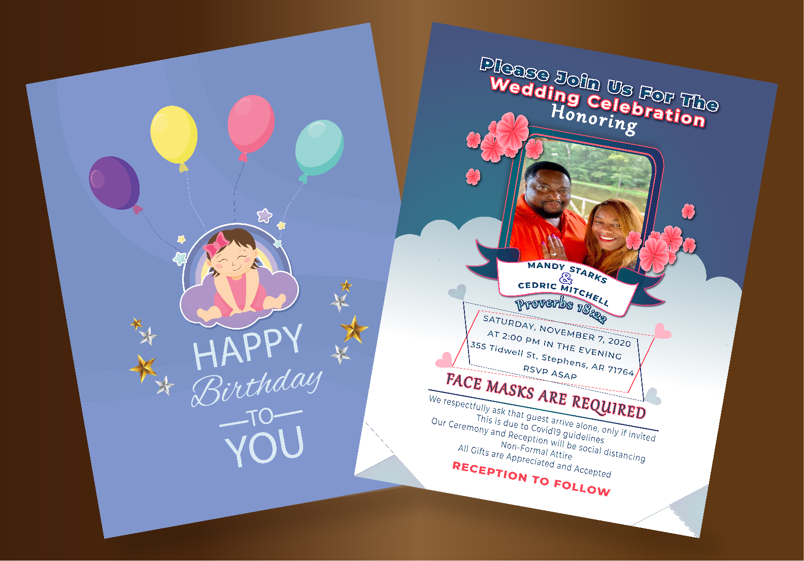 I will design birthday,  event,  wedding flyer