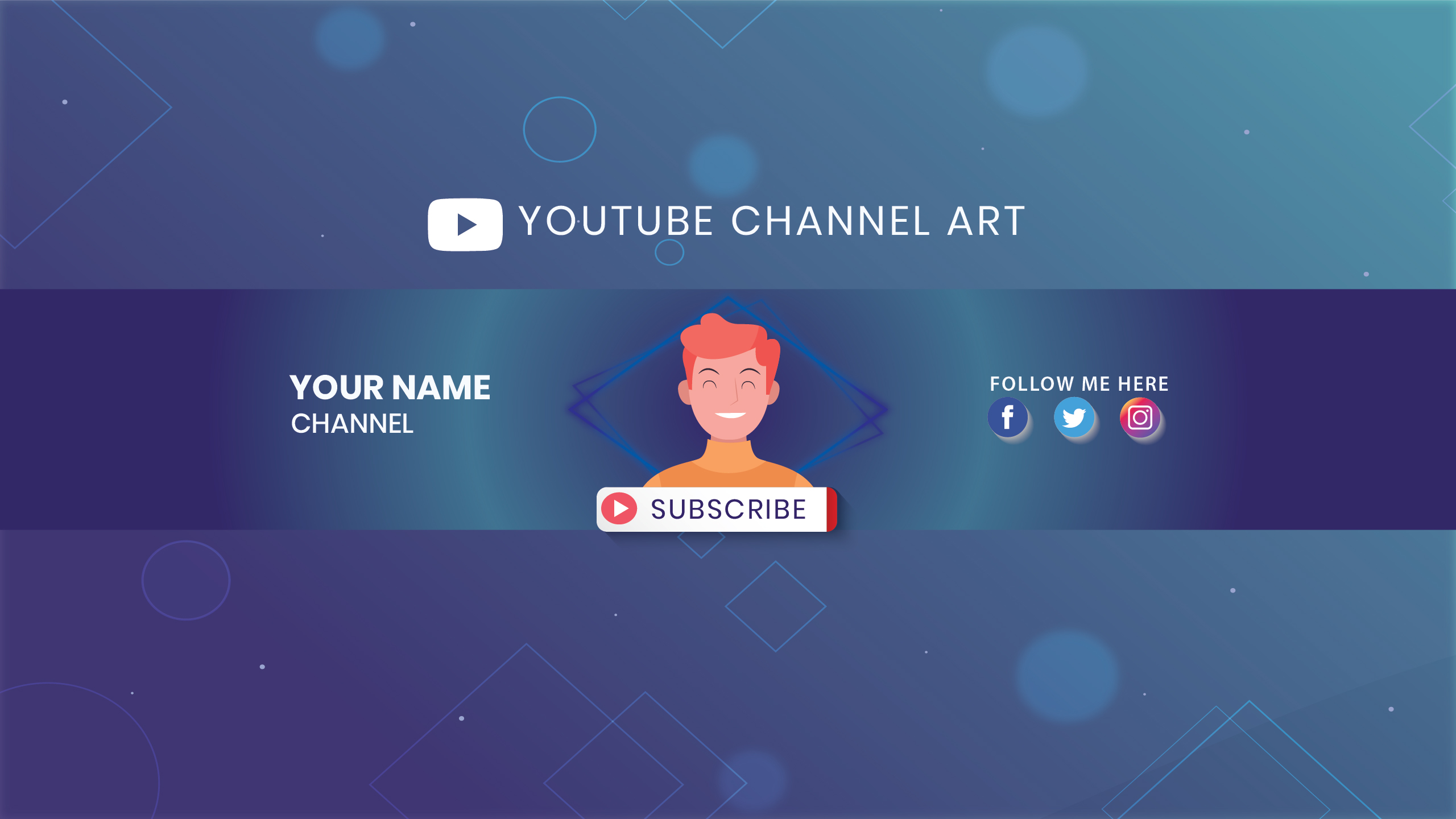 I will design professional youtube banner