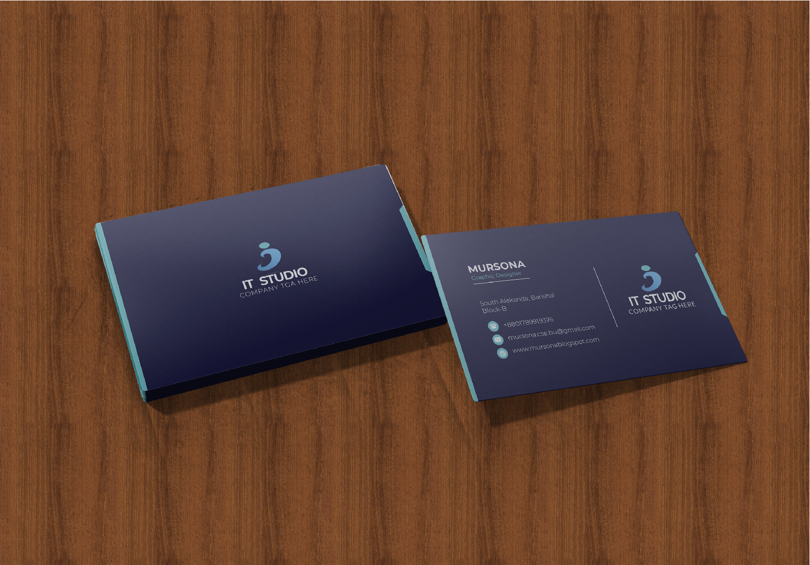 Professional business card design with my expertise