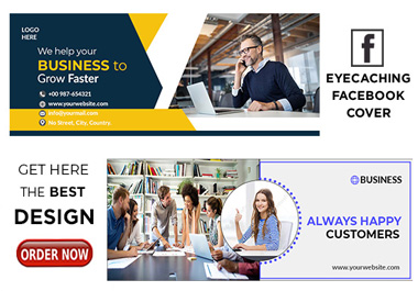 I Will Design Professional Eye-catching Facebook cover job within 24 Hr