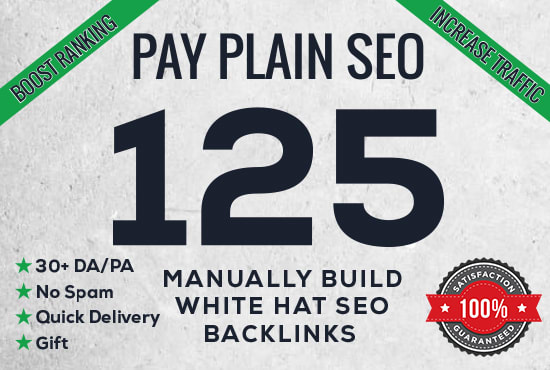 I will create 125 high da pa quality backlinks