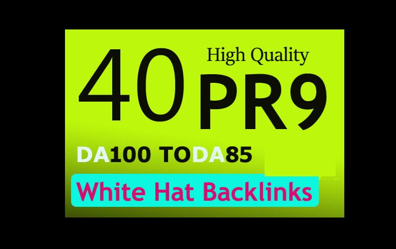 Create unique 40 pr10 pr9 high authority backlinks