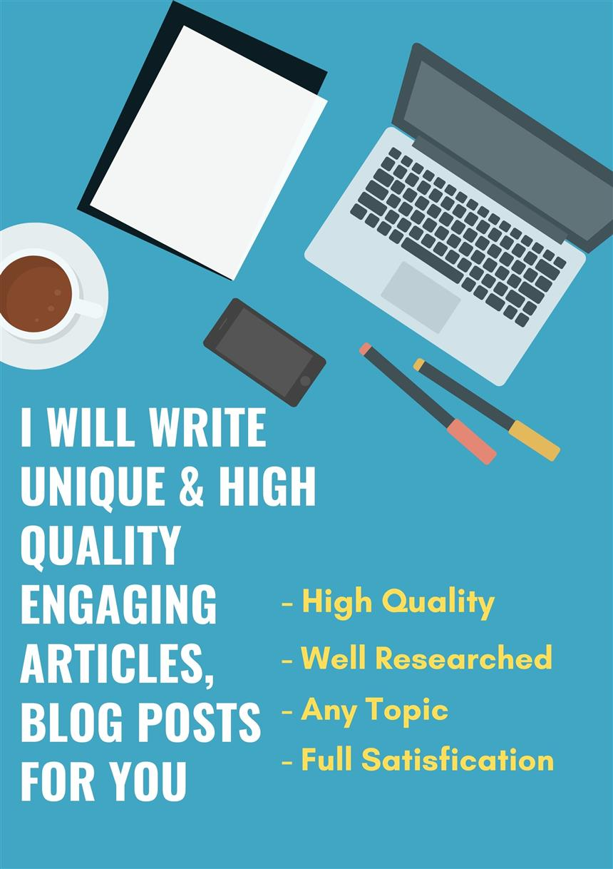 High quality engaging articles and blog posts