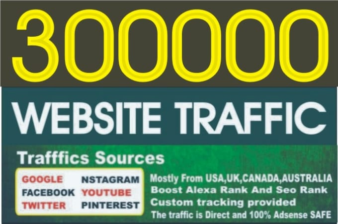 300,000 web traffic worldwide from TOP Social Media for