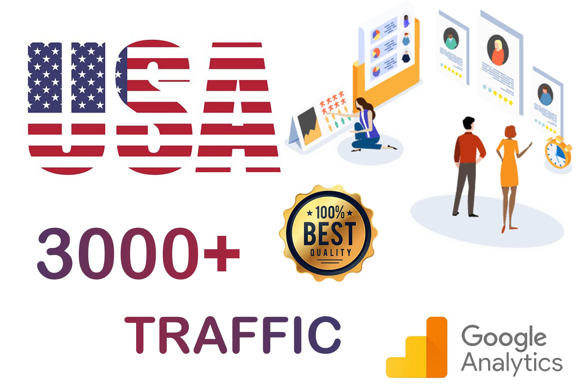 3000 USA Targeted Human Traffic to Your Website Adsense Safe Good Alexa Rank