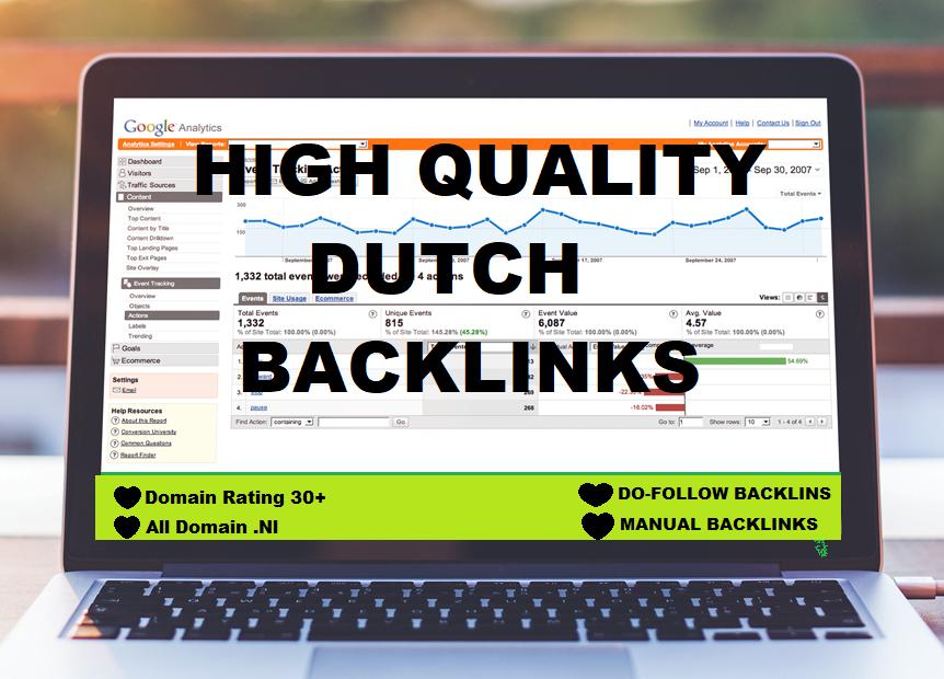 I build 20 permanent dutch backlinks for your website