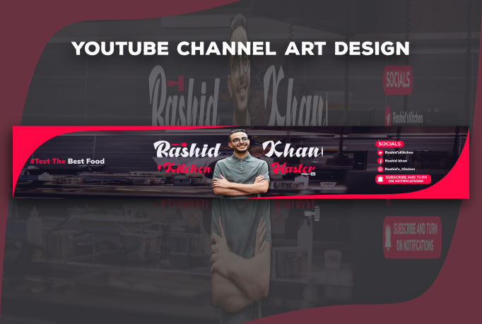I will design Youtube banner for you with in 8 hours