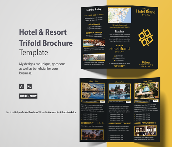I will design trifold Brochure Post for you