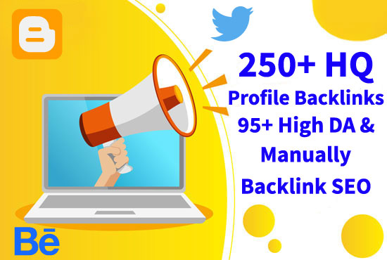 I Will Create High Quality Profile Backlinks that's SEO Service