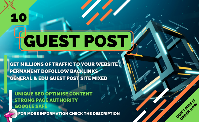I Will Publish 10 SEO Guest Posts with Permanent Backlink