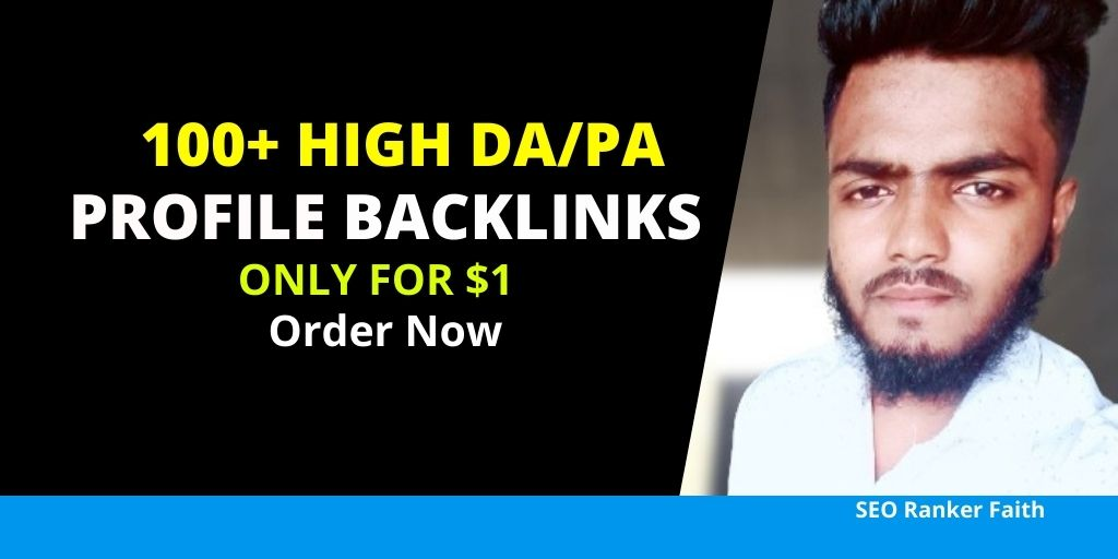 I Will Create DA/PA 90+ Do-Follow White Hat Profile backlinks