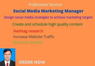 I will be your ideal social media marketing manager