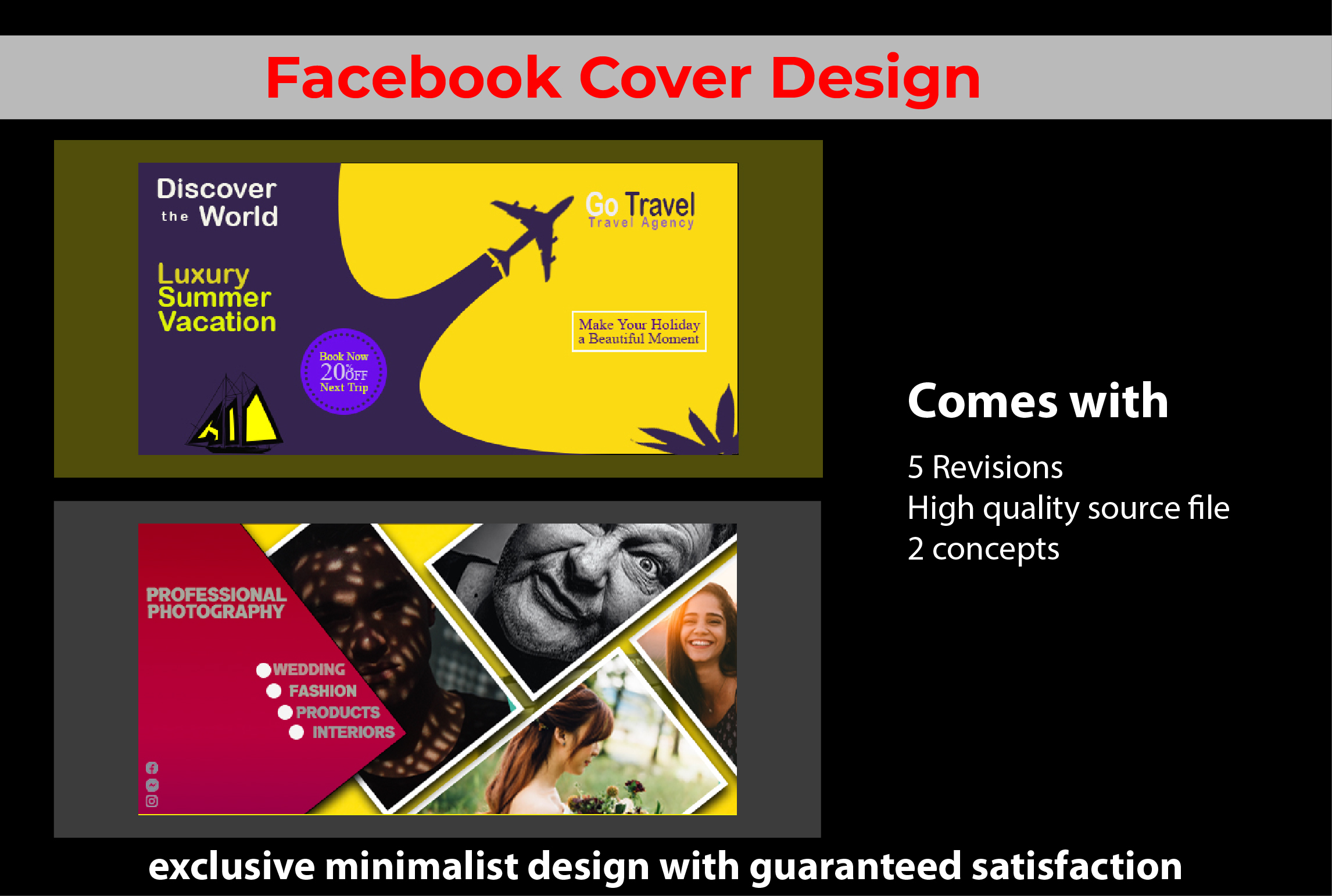 I will make you a professonal facebook cover design for more impression