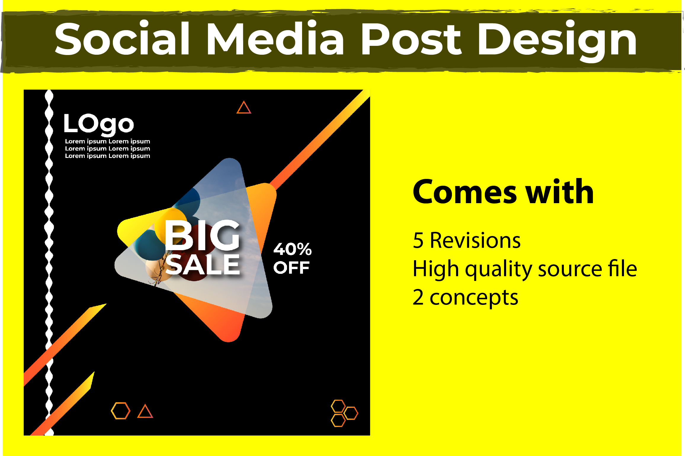 I will design your social media post eyecatching