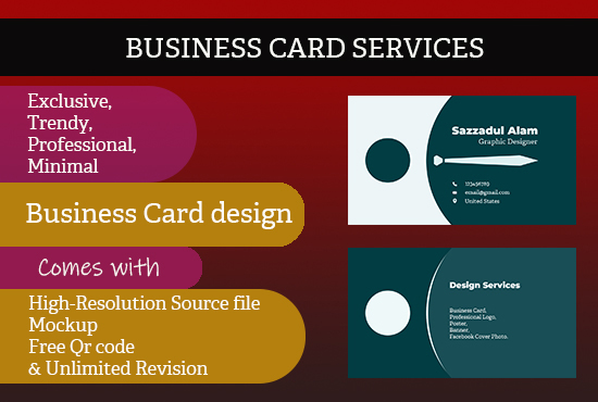 Commerical business card services