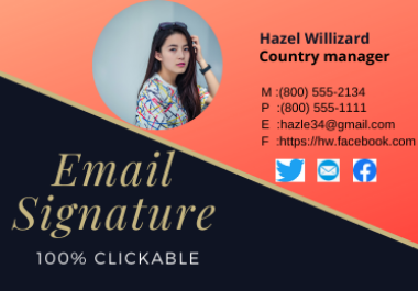 I will create clickable Email signature