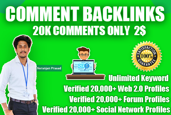 I will 20,000+ Blog Comments SEO link building