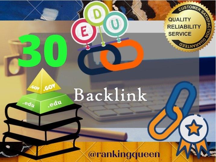 I will boost your Site with 30 High DA Premium Quality EDU - GOV Backlinks