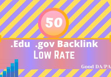 I will provide powerful website backlinks from edu gov sites