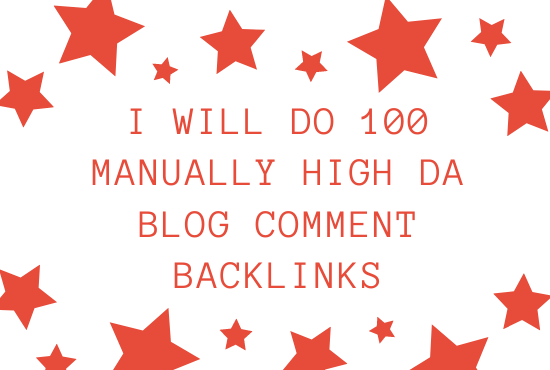 I will do 100 manually high da blog comment backlinks