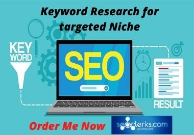 I will do in-depth SEO Keyword Research for your targeted Niche