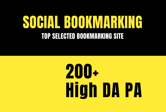 50 High PA and DA bookmarking backlinks for your website