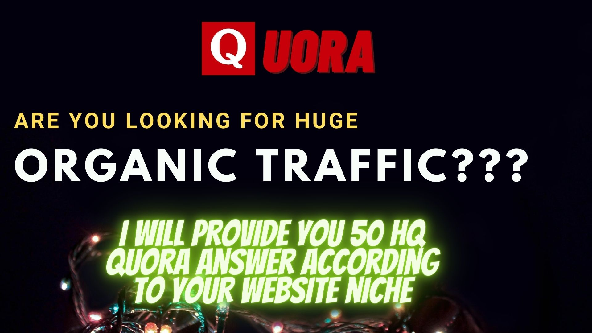 Get 50 HQ Quora answers with your backlink and url
