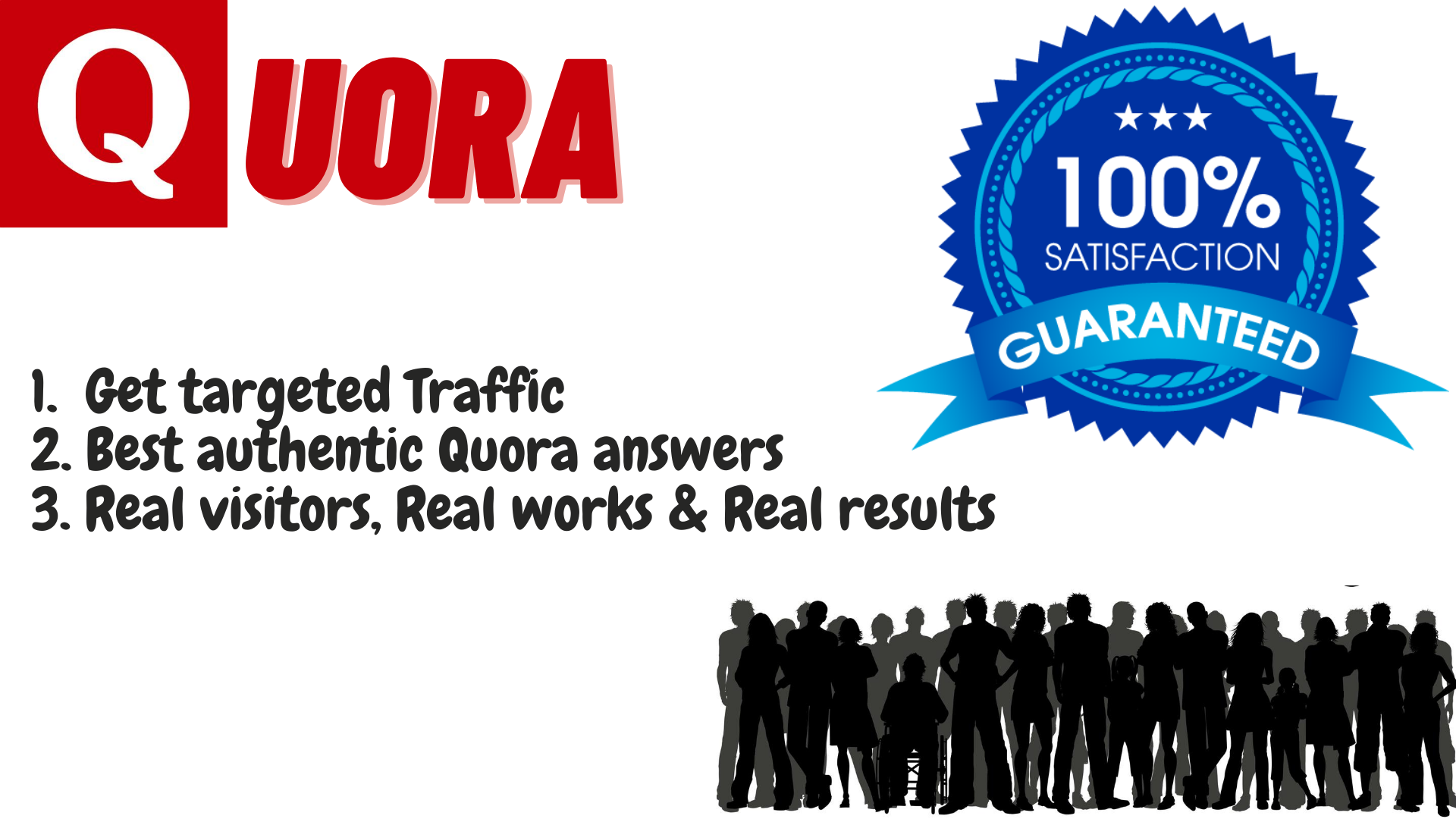 Need traffic for your website Get 20 Quora authentic answers for getting huge traffic