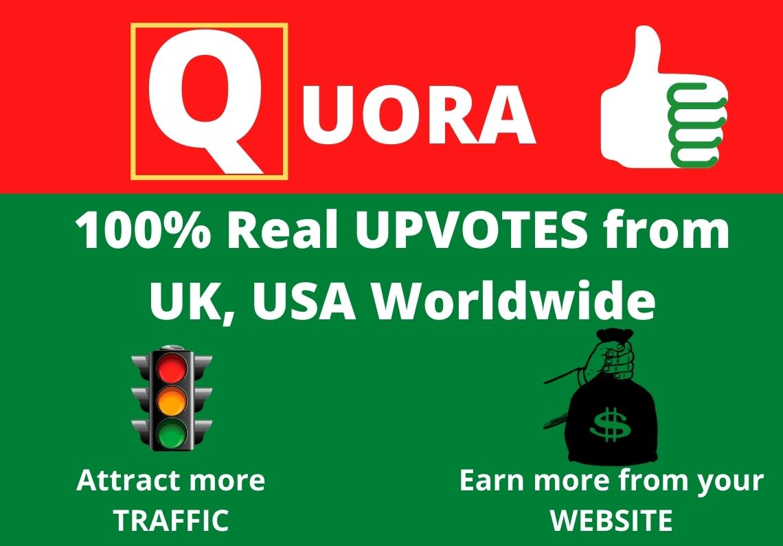 Get 200+ Quora ORGANIC UPVOTES from UK, USA Worldwide