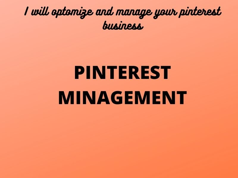 I optimize and manage your pinterest business accoun