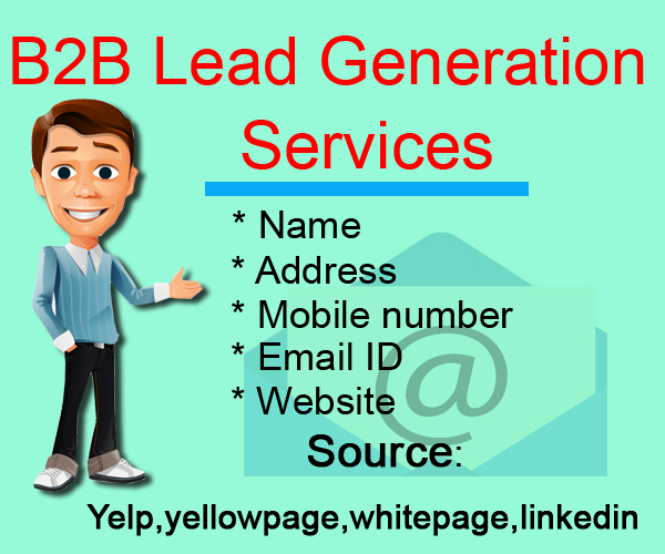 I will provide b2b lead generation targeted email list,  web mining and web Research 10 leads for
