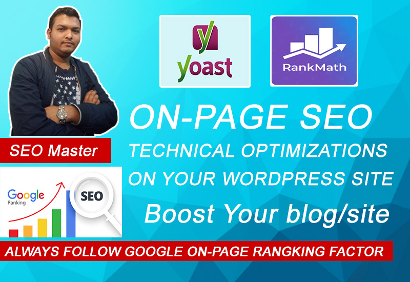 Onpage SEO & Technical setup With Yoast or Rankmath Plugin