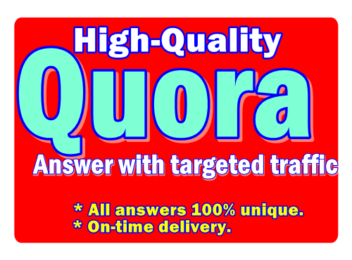 I will provide 20 Quora answer for you