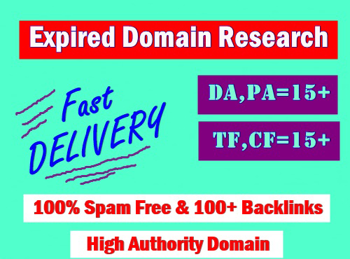 3 High quality expired domain Research With Powerful Metrics