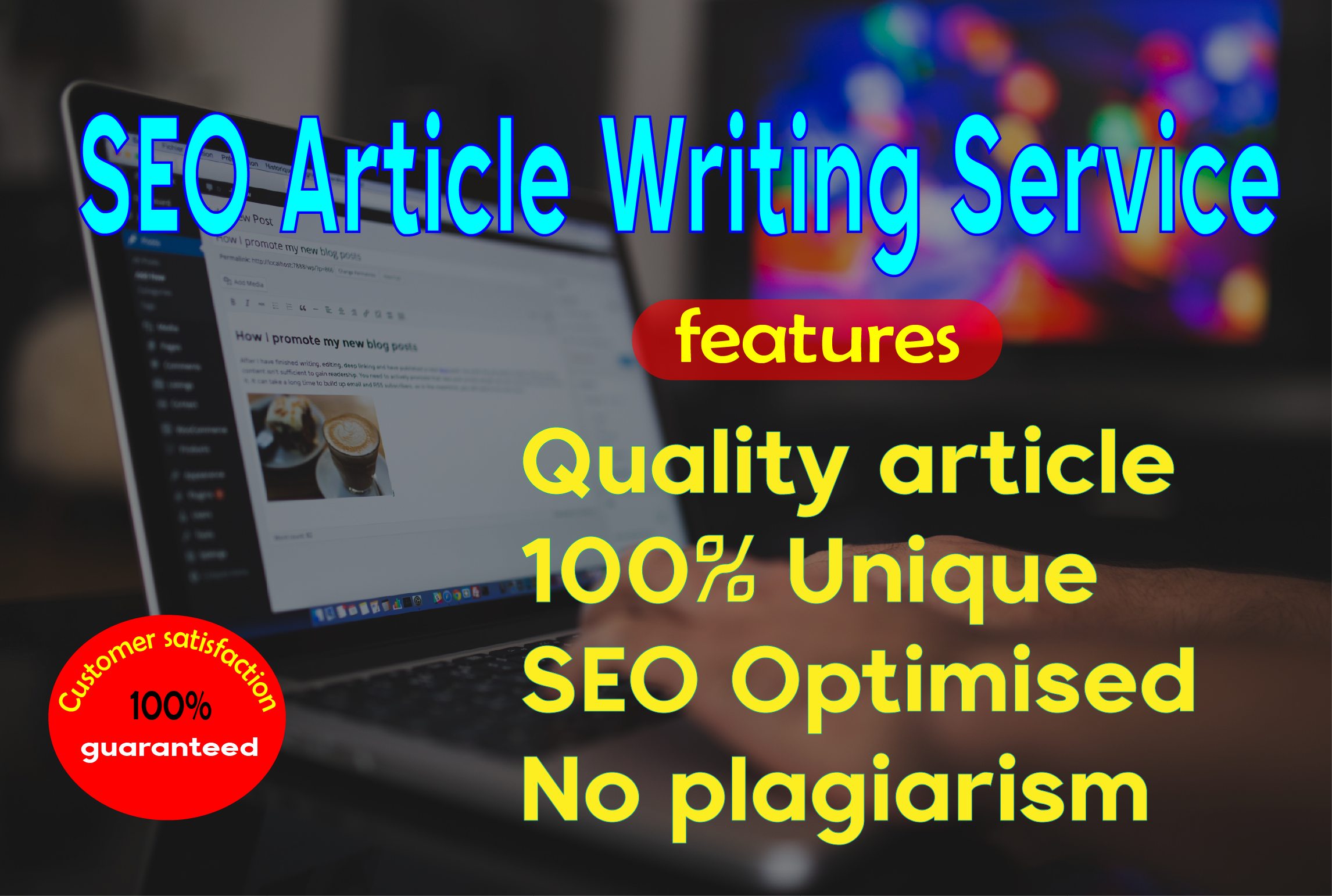 I will write 1500 Words unique article writing for your website