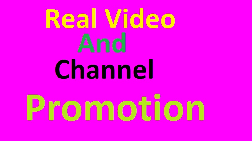 Real Video Promotion And Social Media Marketing