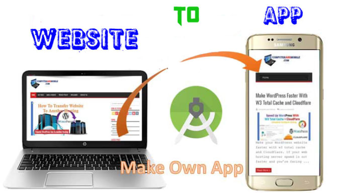 convert website or blog to mobile app