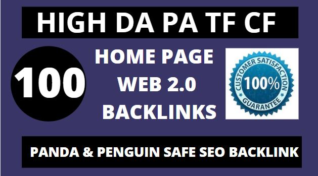 Best create 100+manual web 2.0 backlinks for unique sites.